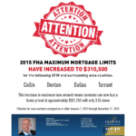 FHA Increase Maximum Mortgage 2015